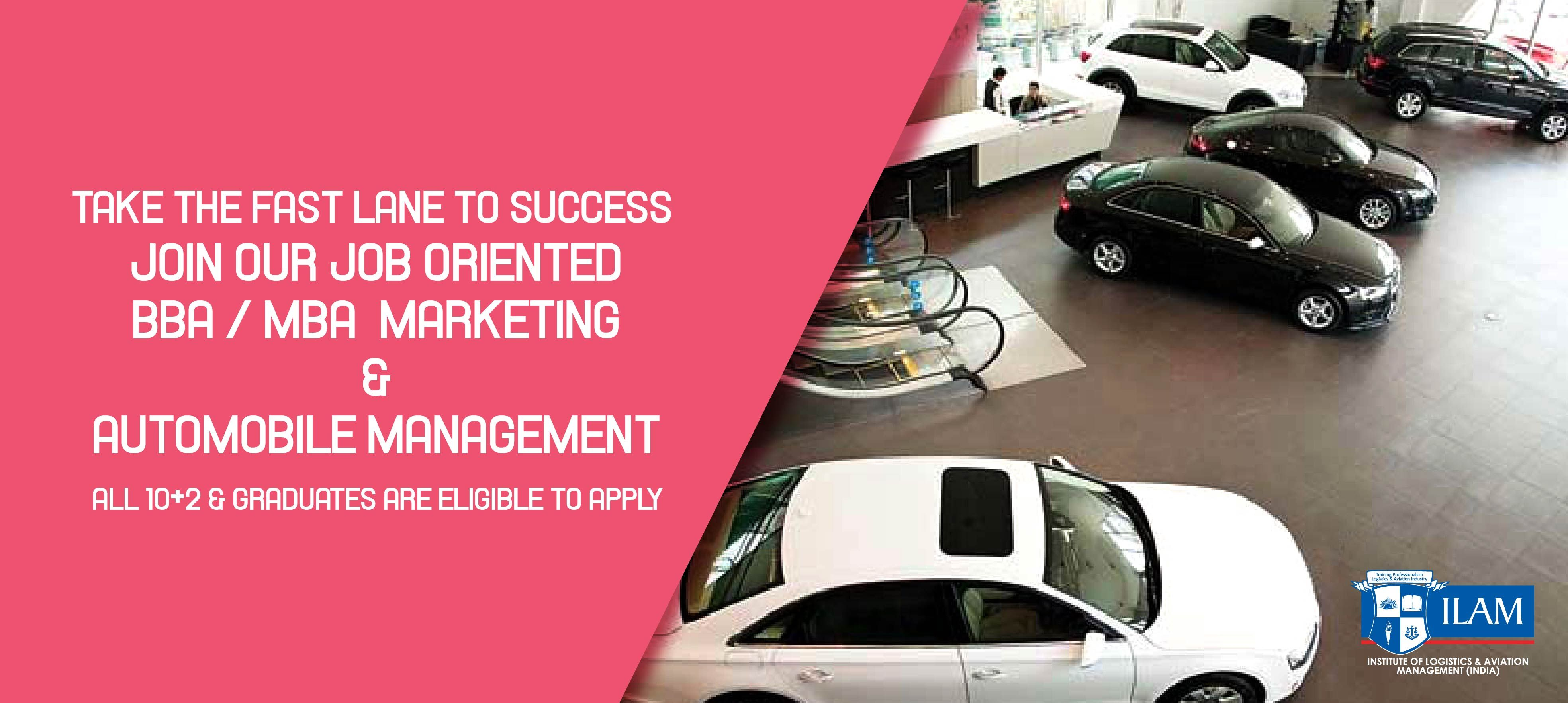 India's leading Institute Inviting applications for #BBA / #MBA #Marketing  & #Automobile #Management *get 100… | Mobile management, Automobile  companies, Marketing