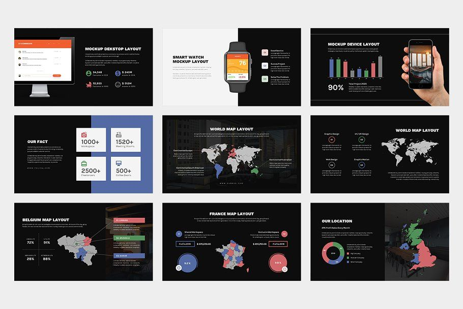 Ad Folisa Coworking Space Powerpoint by punkl. on