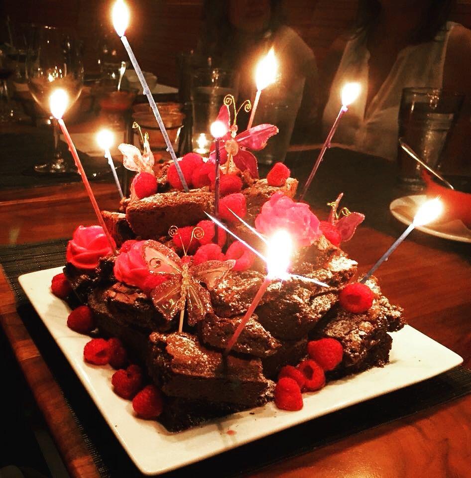 Birthday Brownie Tower Birthday Cake Brownies Birthday