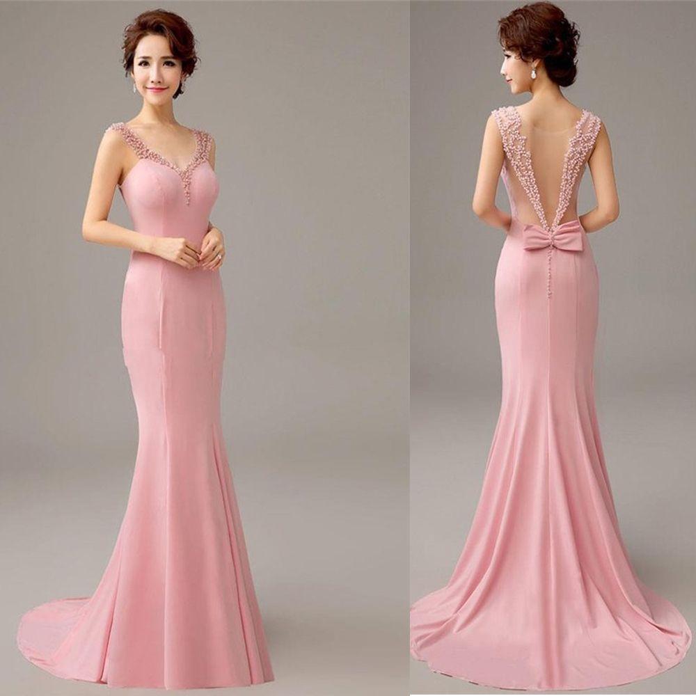 Encontrar Más Vestidos de dama de honor Información acerca de Pretty ...