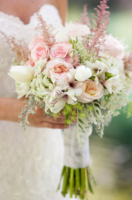 Bridal Bouquet Made With Peonies Ranunculus Roses Spider Mums