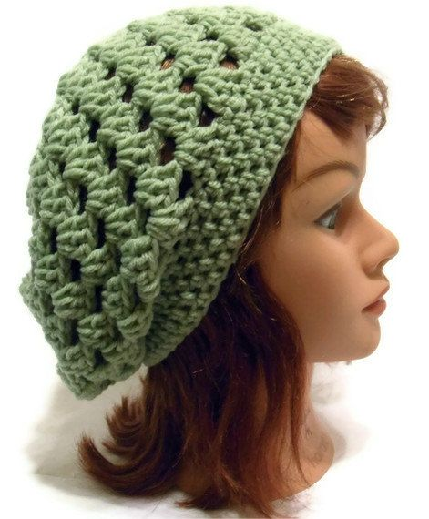 Crochet Granny Square Tam Snood Slouchy Beanie by AddSomeStitches ...