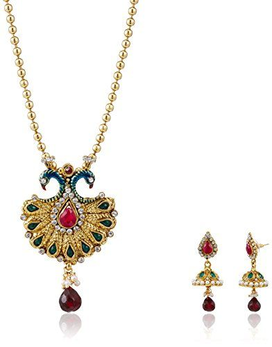 Ava Jewellery Set for Women (Golden) (S-VS-2205)