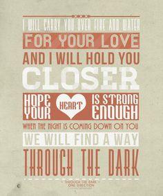 letra de la cancion through the dark