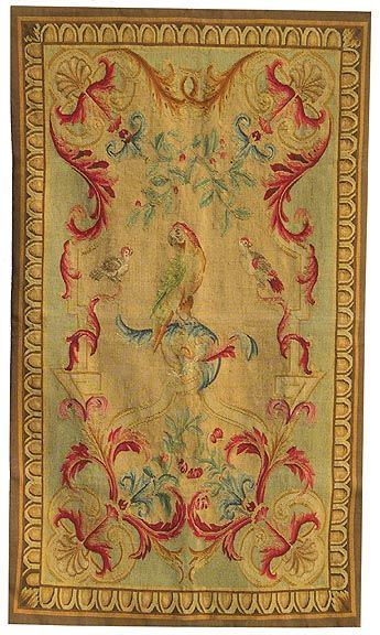 Aubusson Tapestry Featuring Parrots And Other Birds My