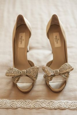 valentino wedding heels with peep toe and bow