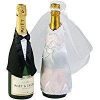 Hochzeitsgeschenk-Flasche mit Brautpaar