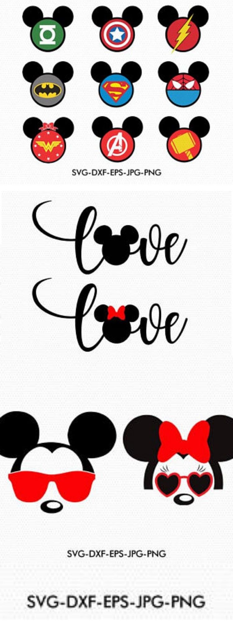 Disney Svg BundleMickey Minnie valentines love Svg, Mickey
