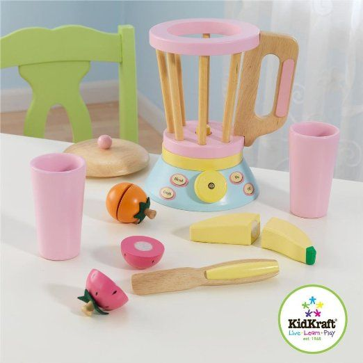 Wooden Pastel Smoothie Set Wooden Food Sets Toys Pretend