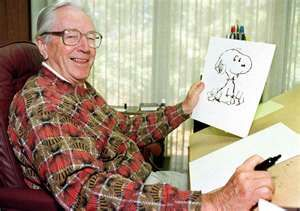 Charles Schultz and Snoopy