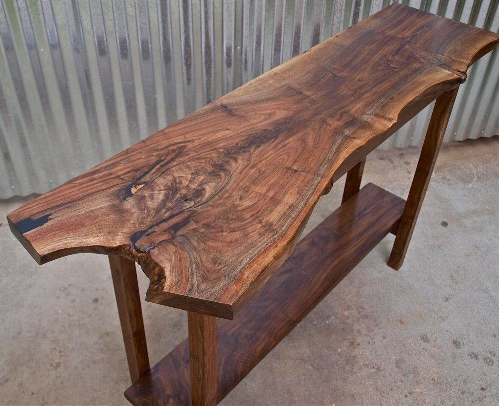 Live Edge Black Walnut Table Custom Furniture Portland Or