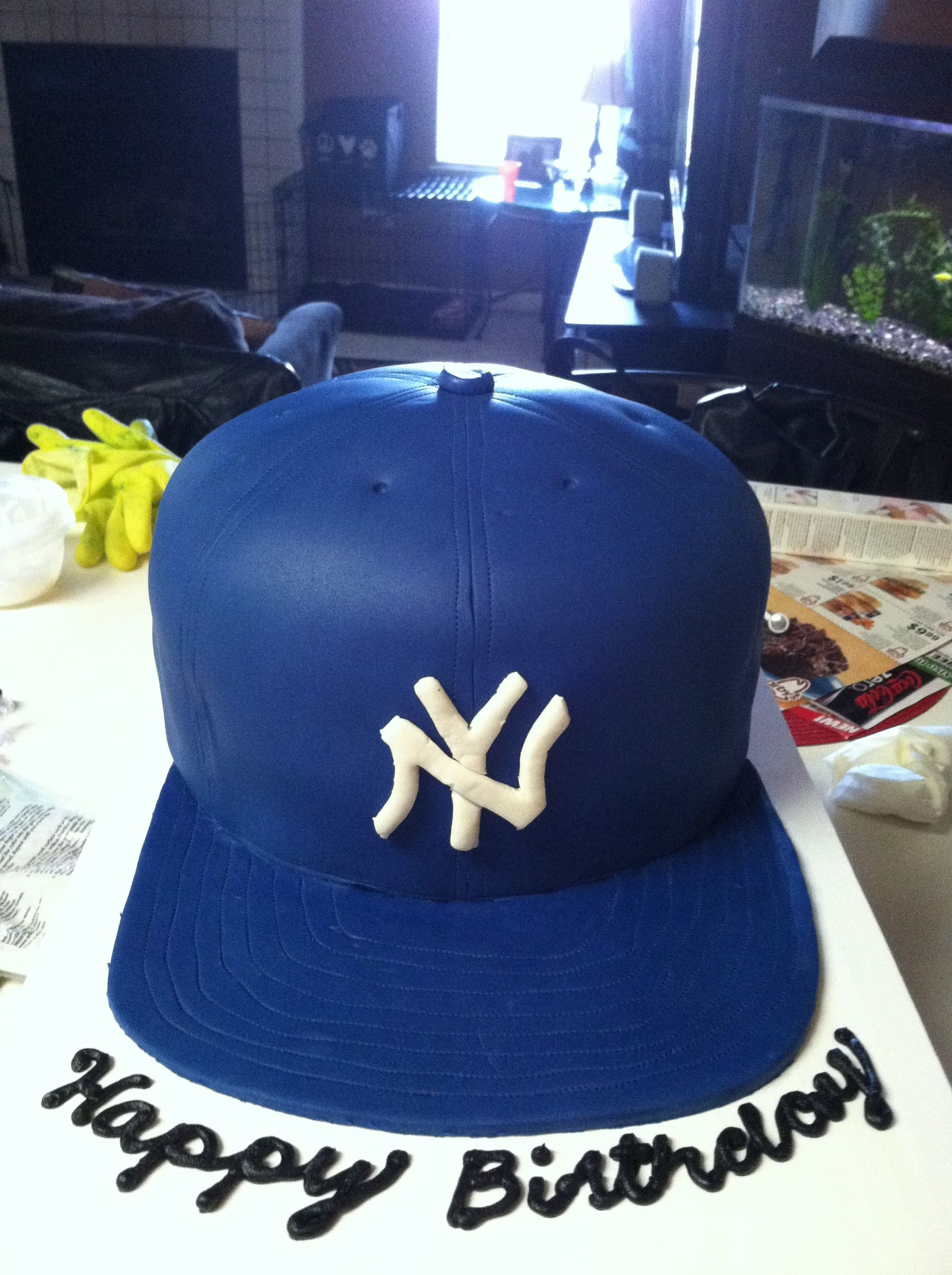 New York Yankees Fitted Cap Cake Facebook