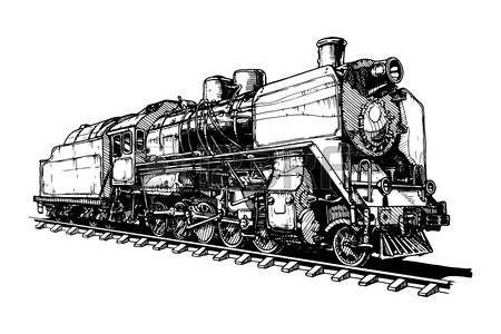 Dessin Locomotive Illustration D Une Vieille Locomotive A Vapeur