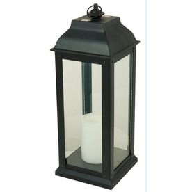 5 94 In X 16 In Black Glass Solar Outdoor Decorative Lantern Lv22806bks Outdoor Decorative Lanterns Solar Lanterns Lanterns Decor