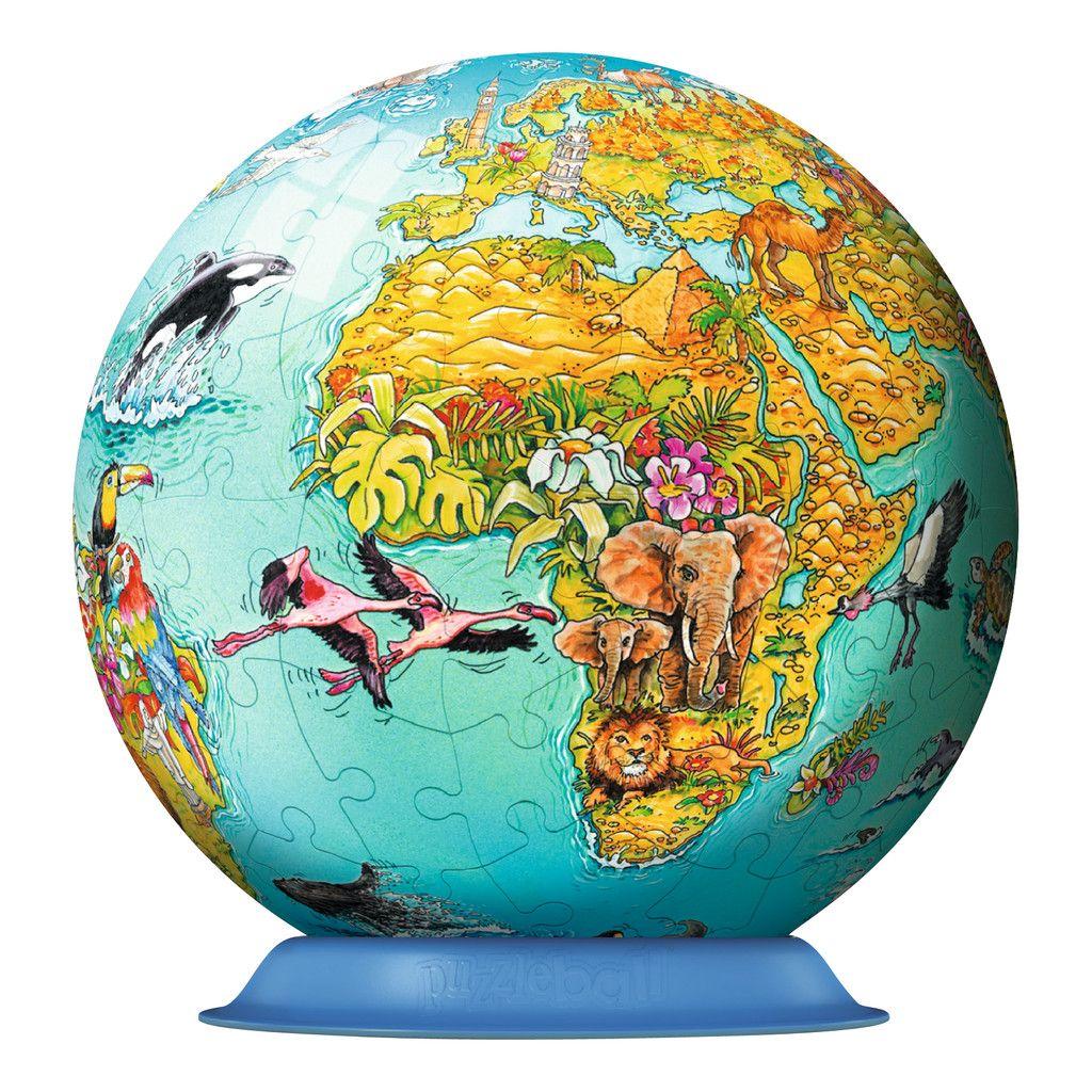 Ravensburger Children World Globe Puzzleball Pieces Yrs - World globe map for kids