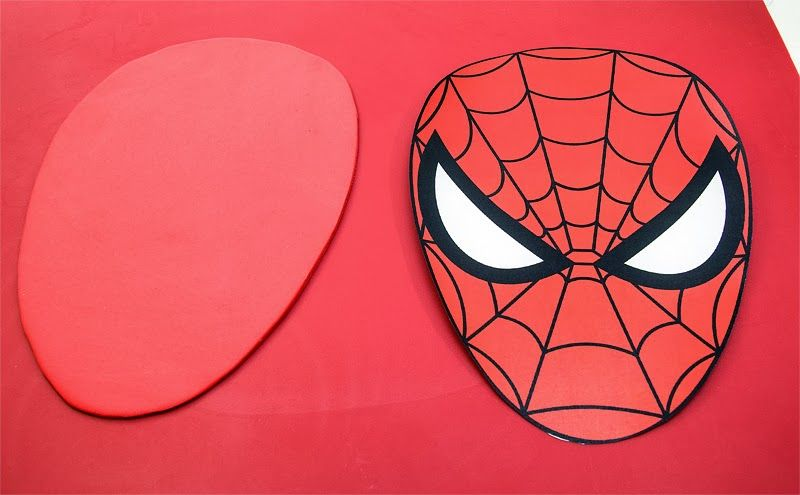 fondant figurine how to make spiderman fondant motive tutorial party ideas pinterest. Black Bedroom Furniture Sets. Home Design Ideas