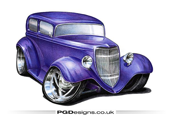 One Of My Favorite Cars Of All The 1934 Ford These Look Great Fully Fendered Or Race Ready Like This Pro S Cool Car Drawings Car Cartoon Hot Rods Cars Muscle