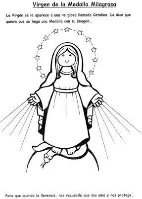 El Rincon De Las Melli Virgen De La Medalla Milagrosa Virgen Caricatura Imagenes De La Virgen Virgen