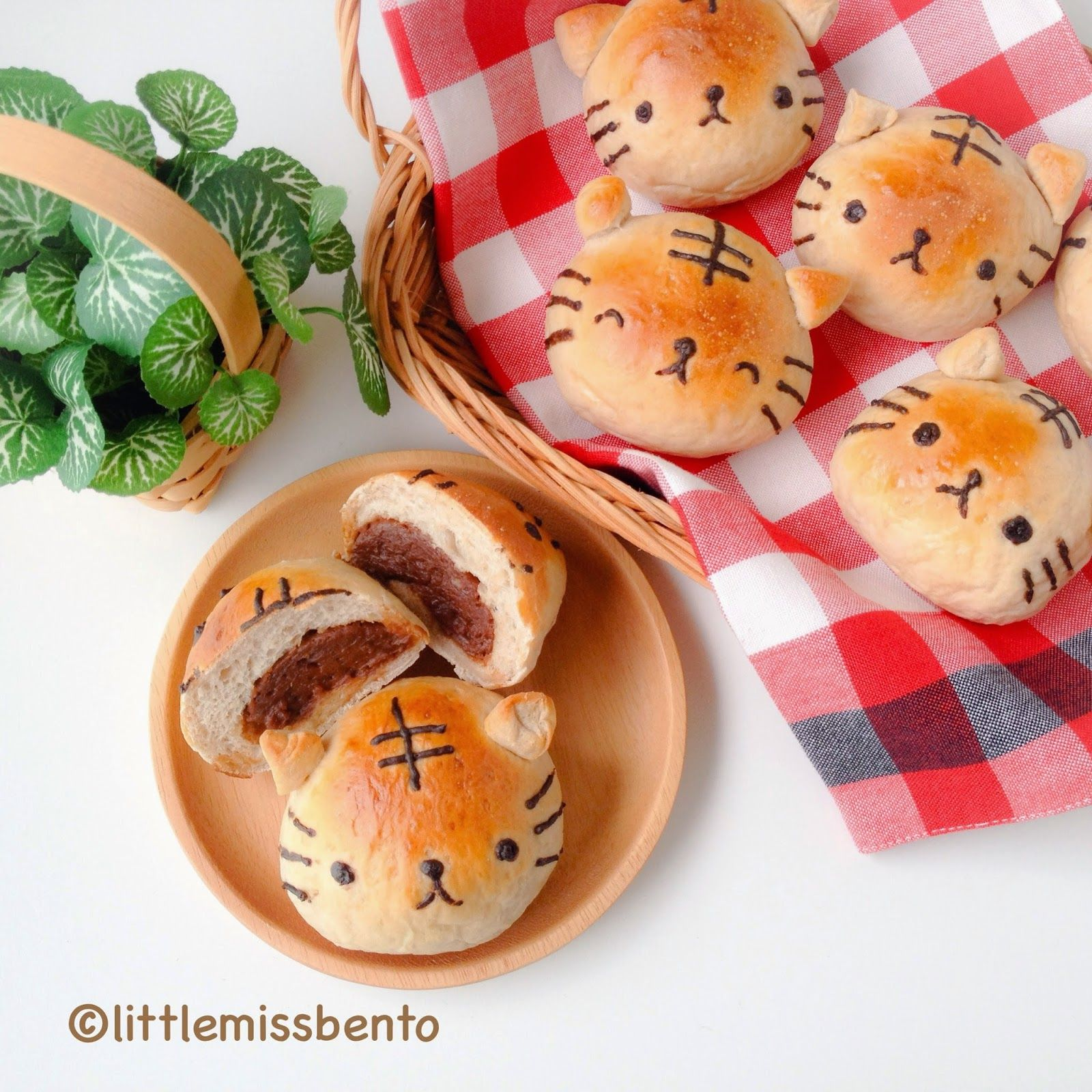 Little Miss Bento シャリーのかわいいキャラベン: Recipe Homemade Milo Bread Buns - Cute Tiger Buns ... Kawaii food