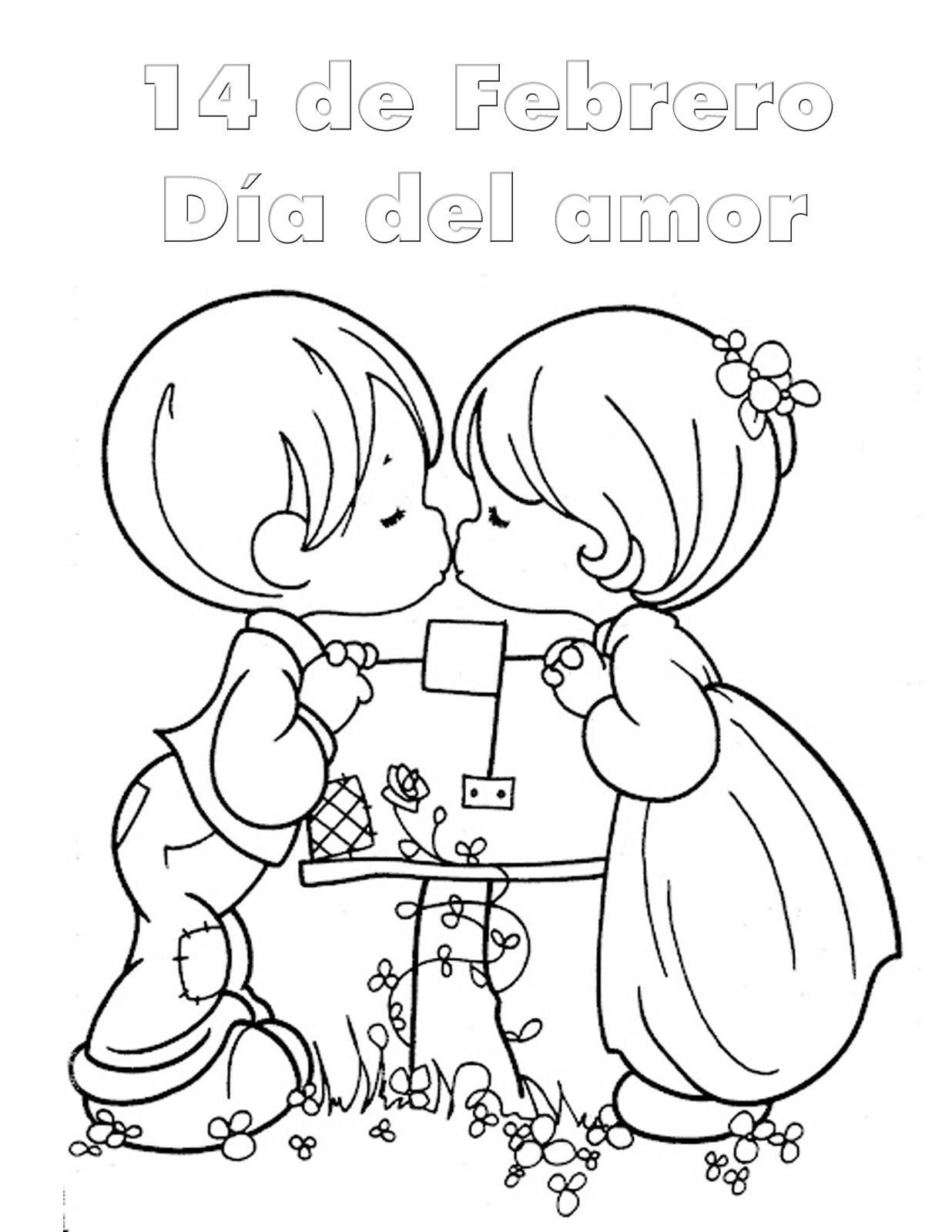 Dibujos Para Colorear 14 Febrero Dia Amor Amistad - Dibujos Para Pintar