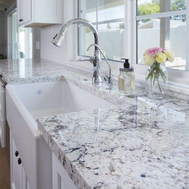 45+ Top Granite Slabs Kitchen Countertops Ideas For Gorgeous Kitchen Inspiration #farmhousekitchencountertops