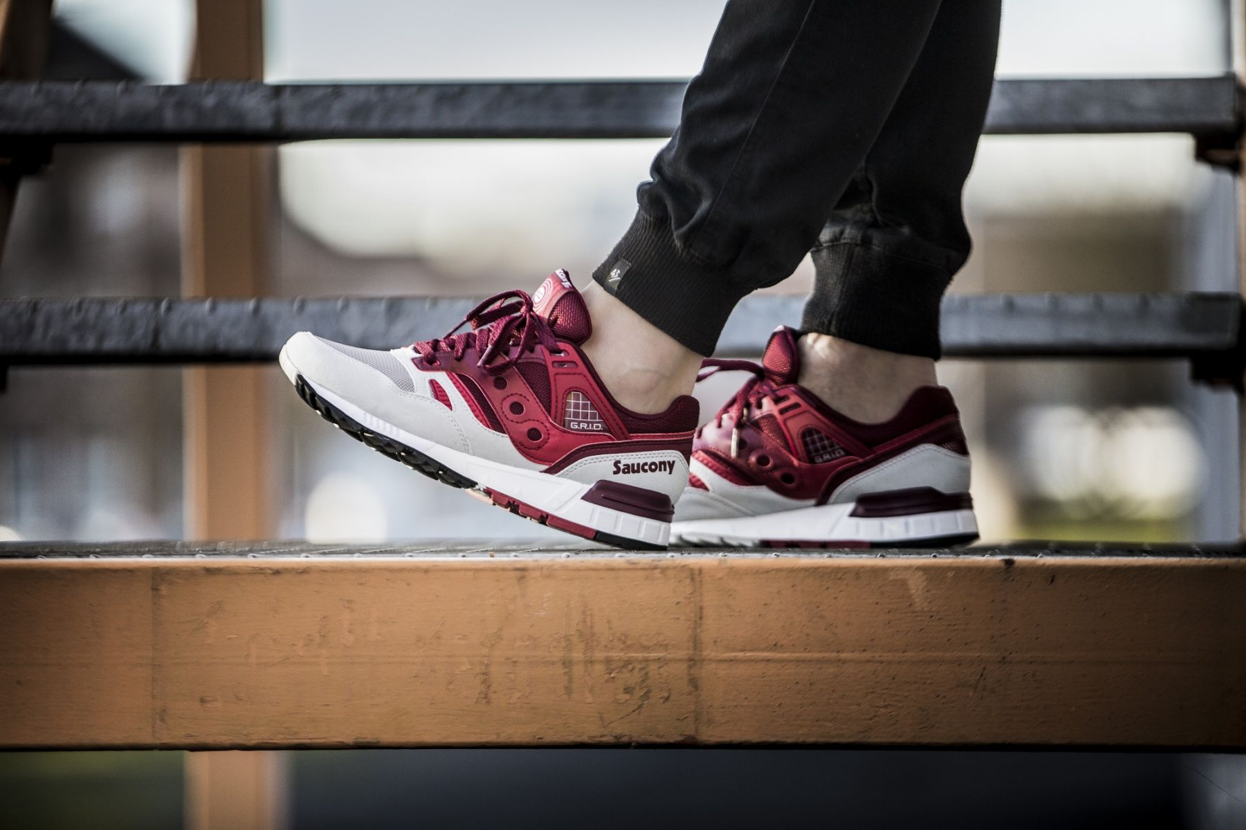 Saucony Grid SD (Grey/Red)