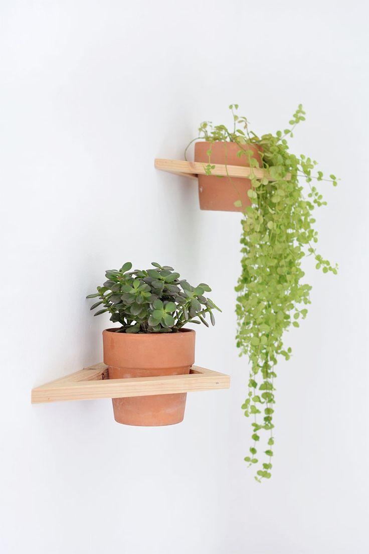DIY geo wall planter DIY geo wall