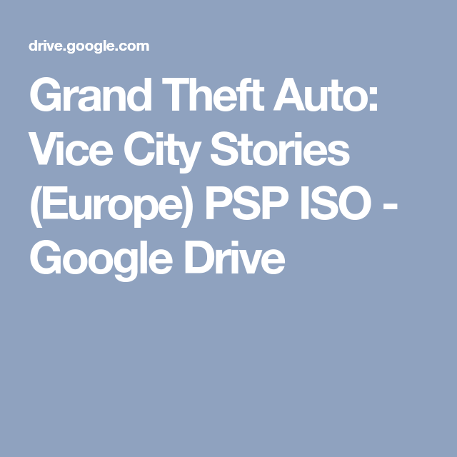 Download gta ps2 iso google drive | Iso File With Google