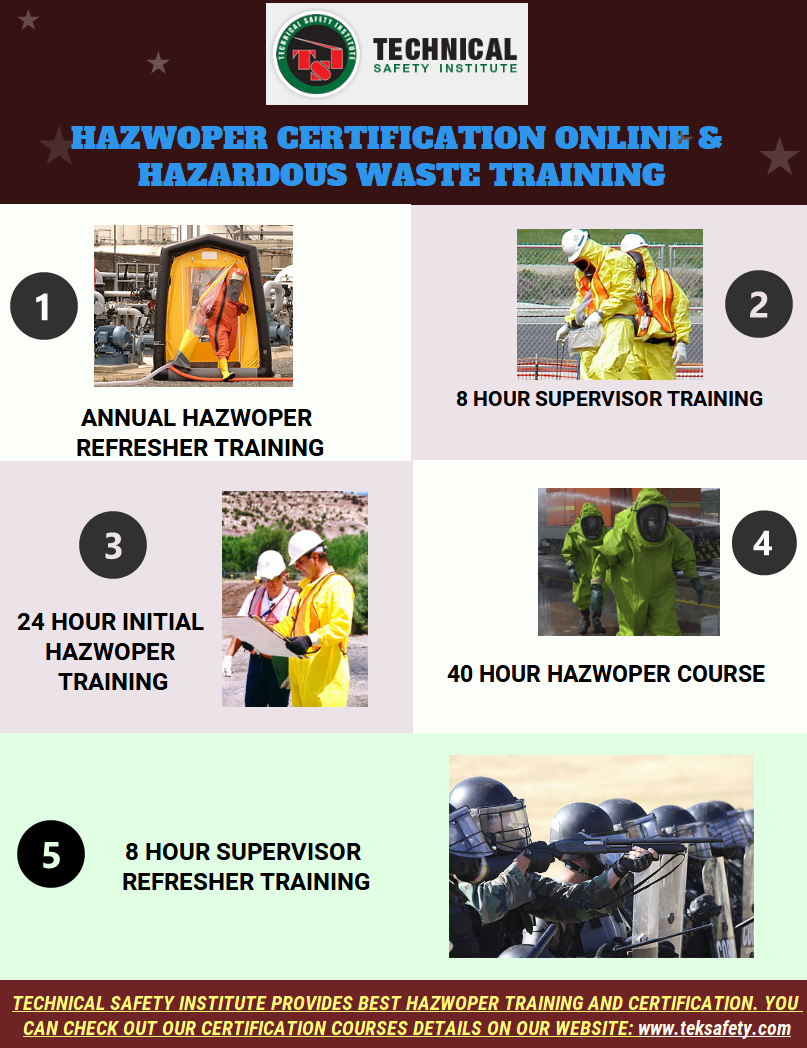 Technical Safety Institute Provides The Hazwoper Certification