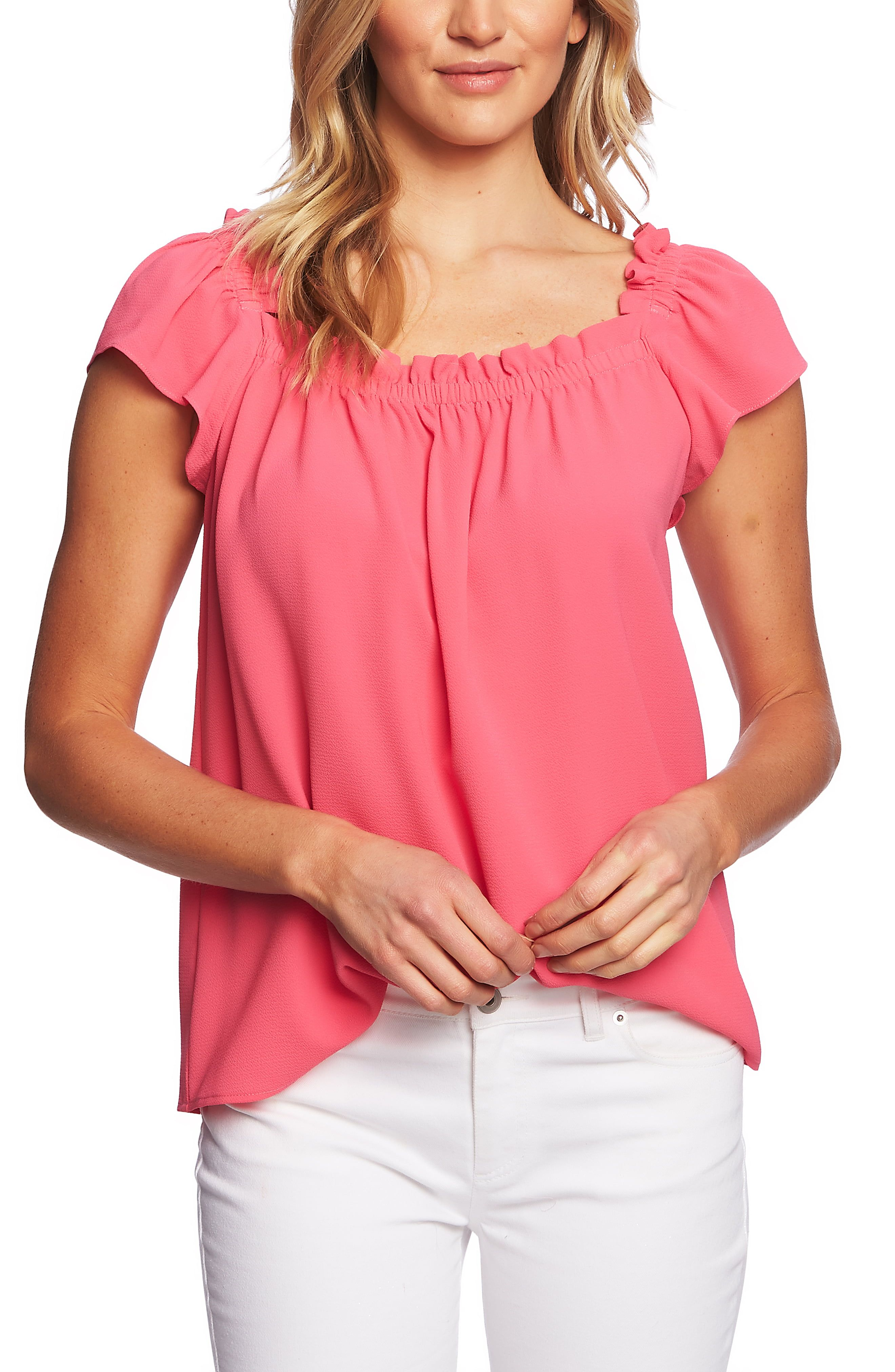 fbea432ccc3143 CeCe Square Neck Blouse in 2019 | Products | Square neck top, Tops ...