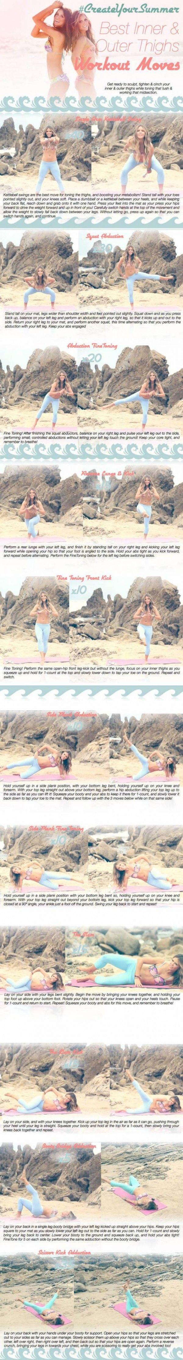 Tone it up bikini series thigh workout fitness pinterest outer
