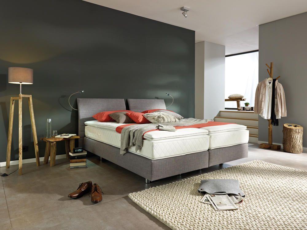 Schön schlafzimmer mit boxspringbett einrichten Deutsche Deko - schlafzimmer mit boxspringbett