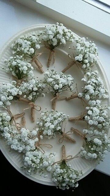 Beroemd Maison la Fleur, corsages van gipskruid. | BARN WEDDINGS in 2019 &PZ51