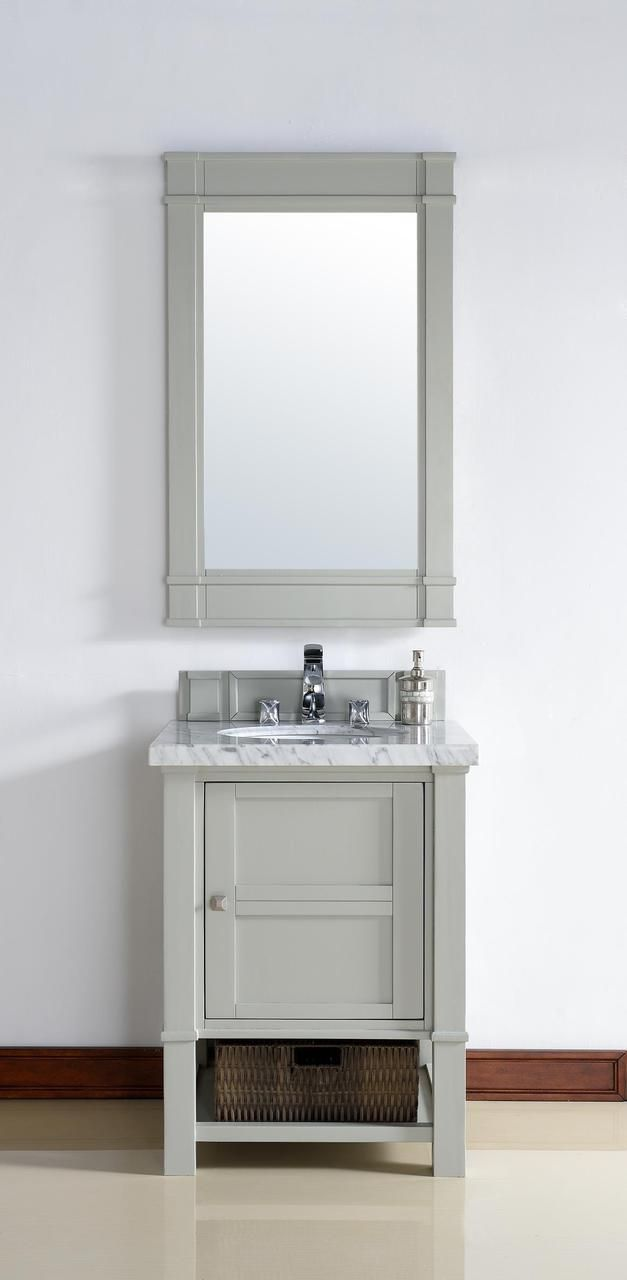 26 Inch Dove Grey Finish Single Sink Bathroom Vanity Optional