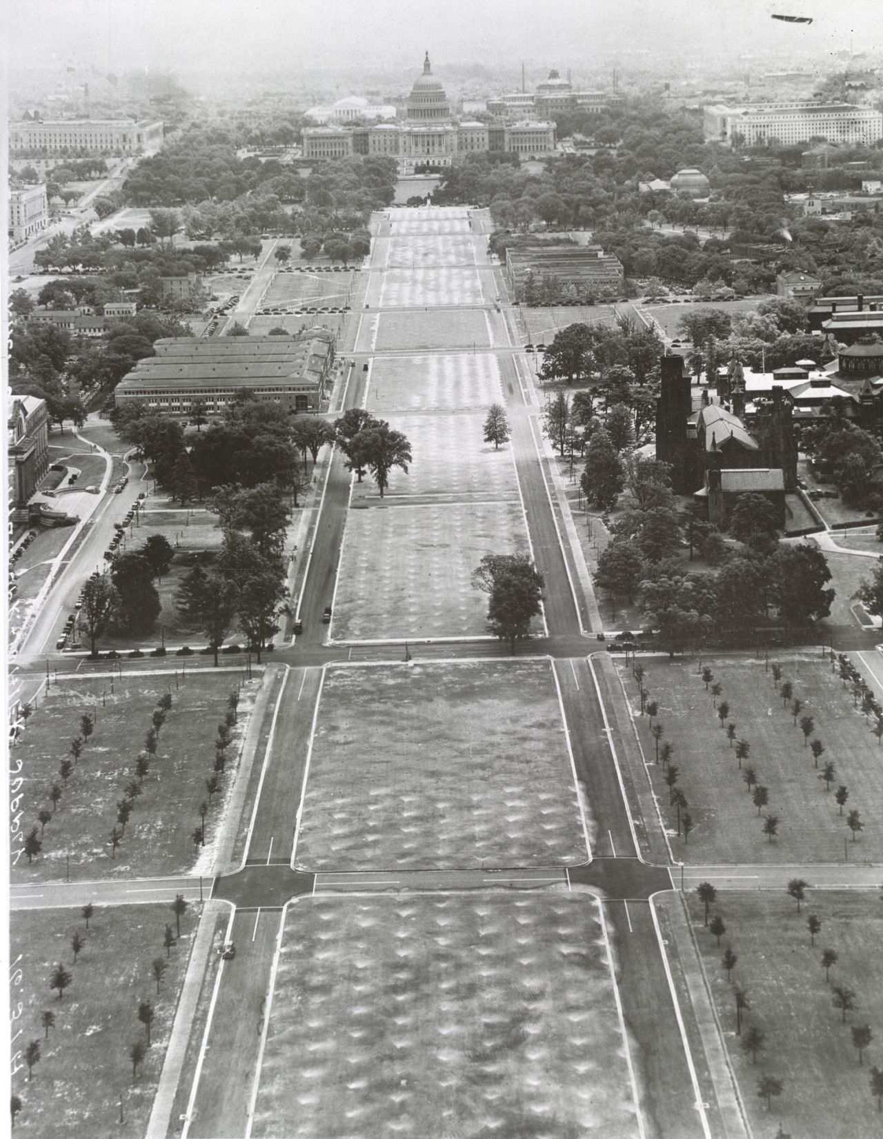 Ca 1936 The Mall From The Washington Monument Washington D C A D White Architectural Photographs Cornell Washington Monument Monument National Mall