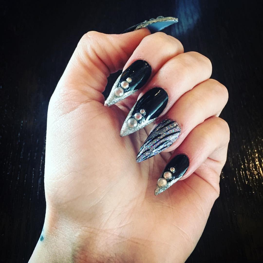 Rocker Stiletto Nails. ☠ #nails #nailstagram #nailgame ...