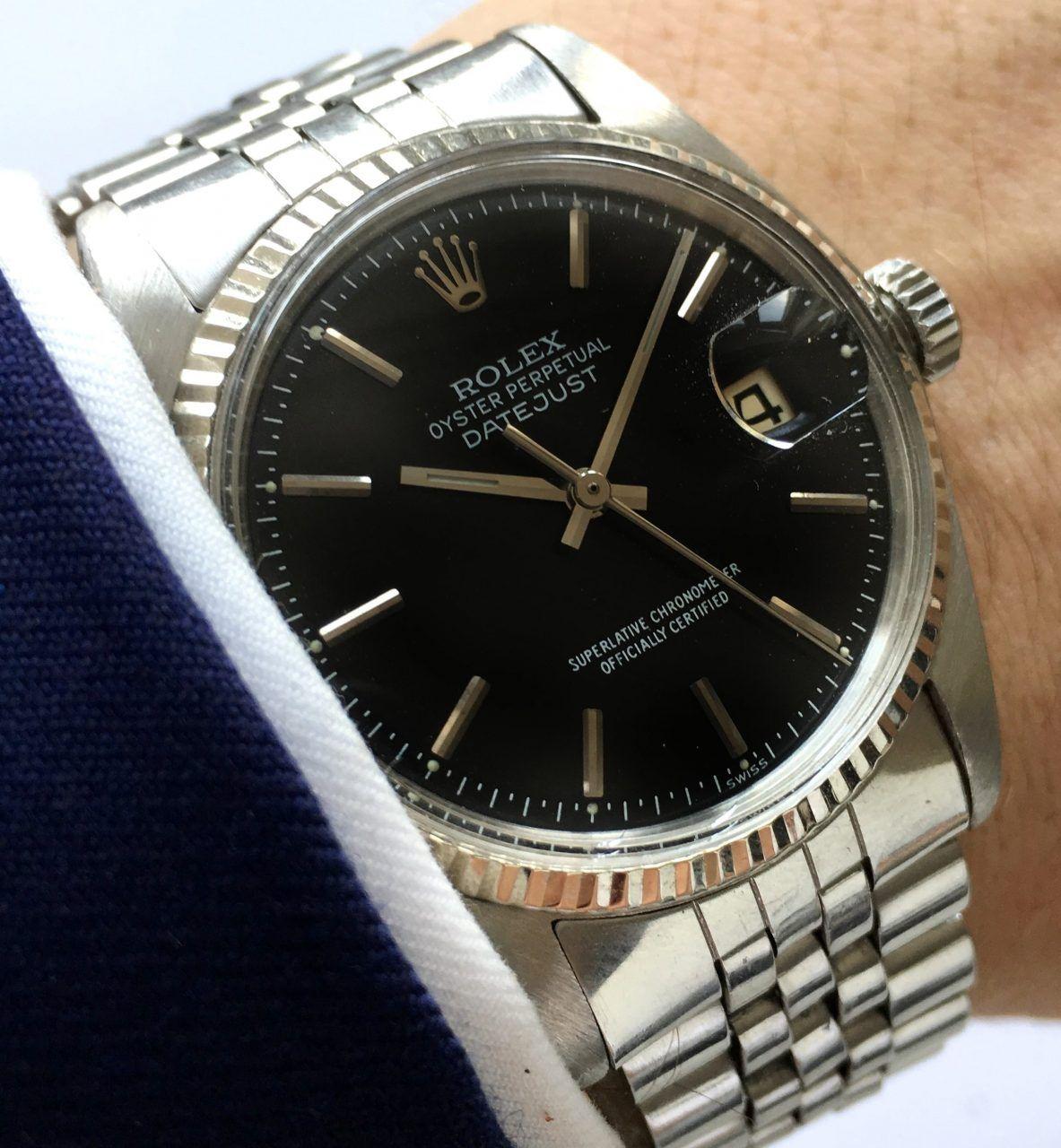 Serviced Rolex Datejust Automatic Black Dial 1601 Vintage Vintage Portfolio Rolex Watches For Men Rolex Rolex Datejust