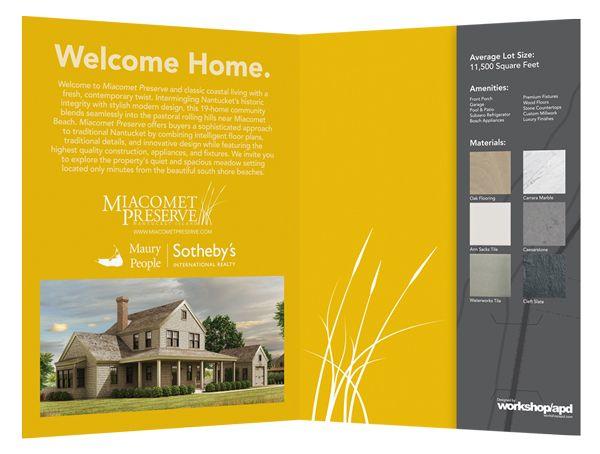 Miacomet Preserve Real Estate Presentation Folder Pocket Folder - resume presentation folder