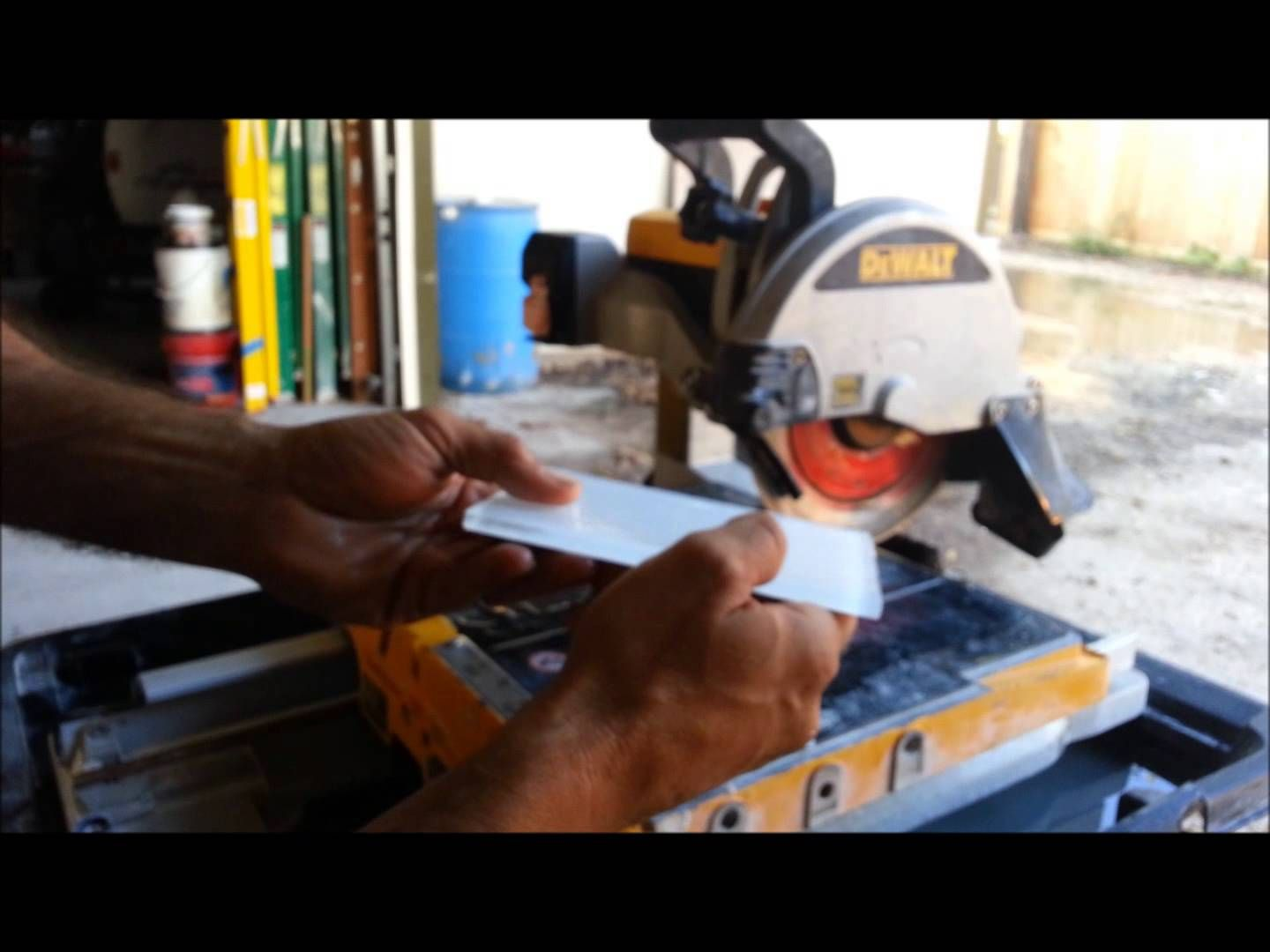 How To Cut Glass Tiles With A Dewalt Wet Saw Diy Home Projects