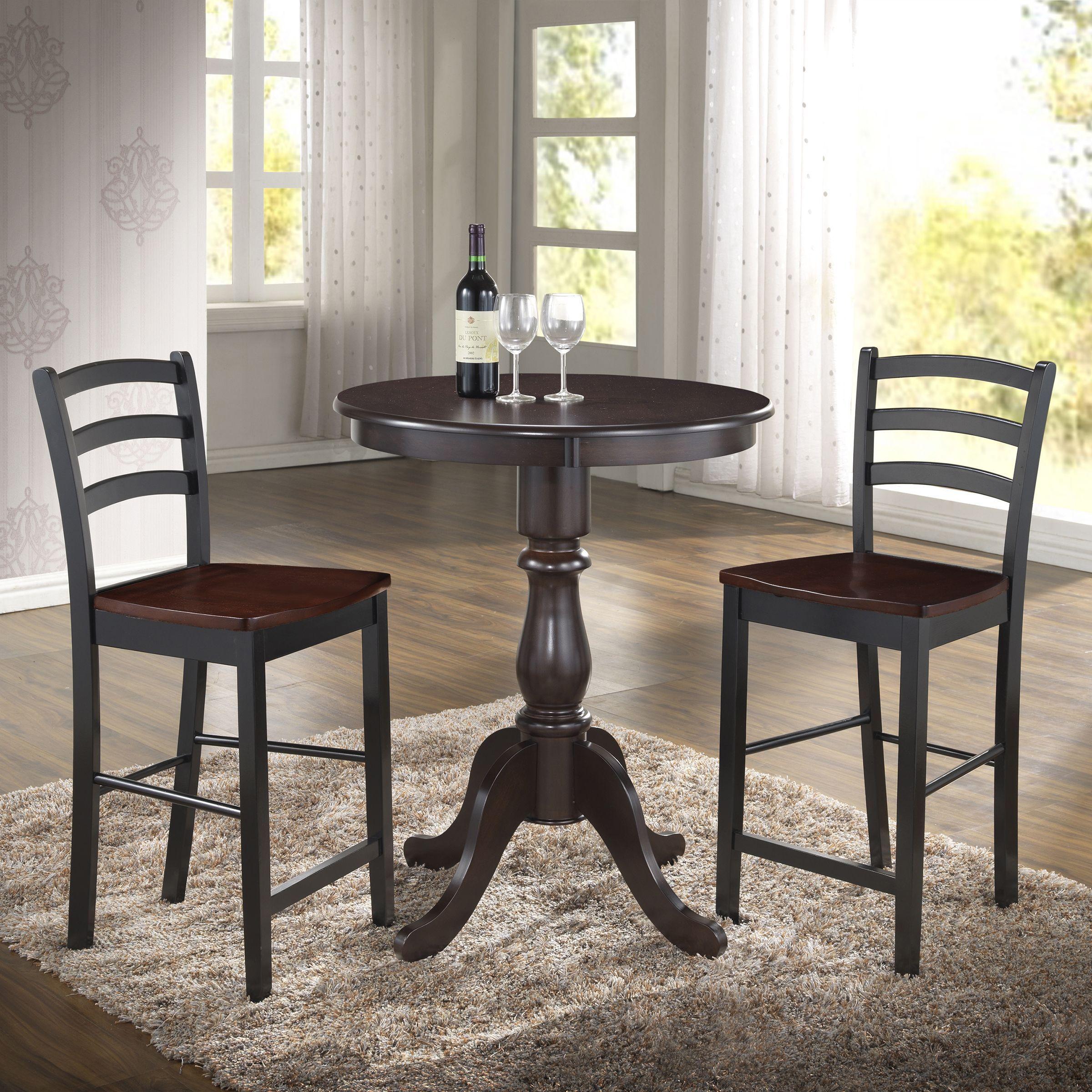 Carolina Linville Round Pedestal Bar Table 36 Round Antique Custom 36 Dining Room Table Decorating Inspiration