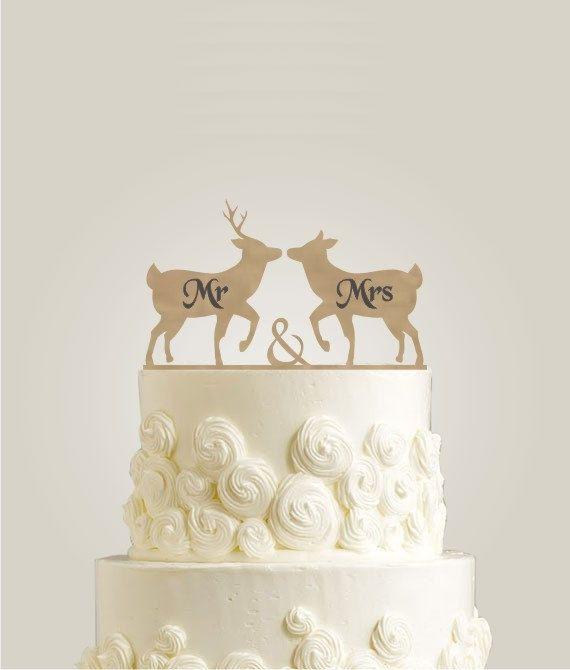 Laser Cut Engraved Wedding Cake Topper Rustic By Laserdesign