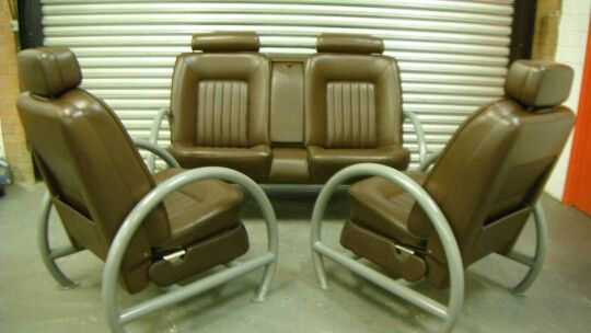 recycled car seat sofas shop pinterest furniture automotive furniture and cars. Black Bedroom Furniture Sets. Home Design Ideas