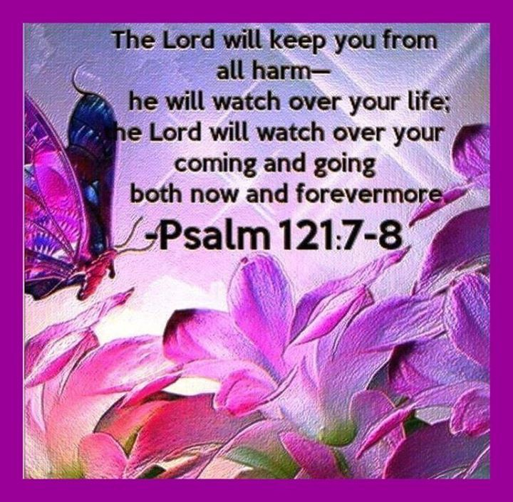 Psalm 121:7-8 (KJV) The Lord shall preserve thee from all evil: he shall… | Psalms, Psalm 121, Bible scriptures