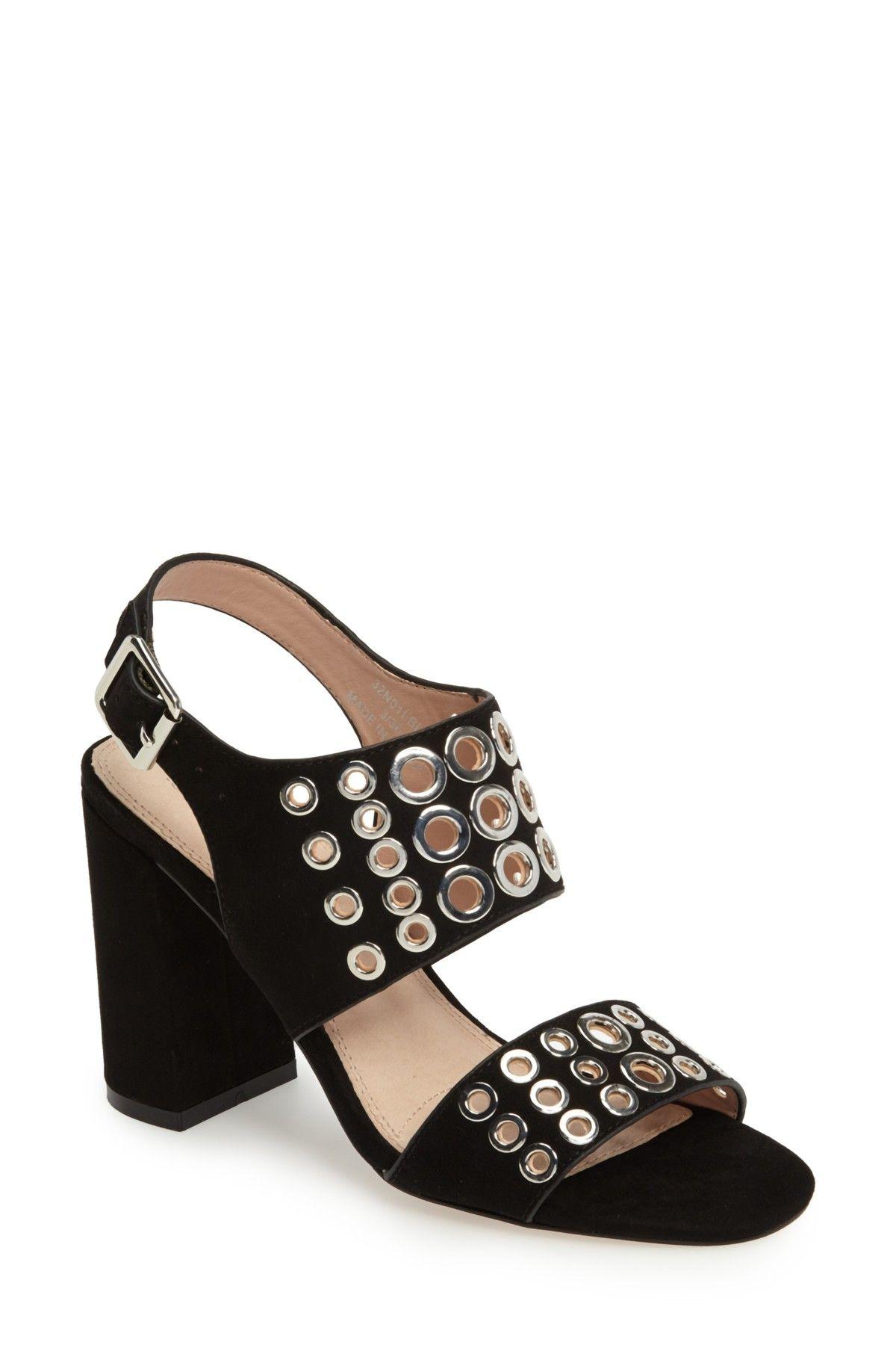 ab81f8dd2 Nadia Rivet Block Heel Sandal by TOPSHOP on  nordstrom rack