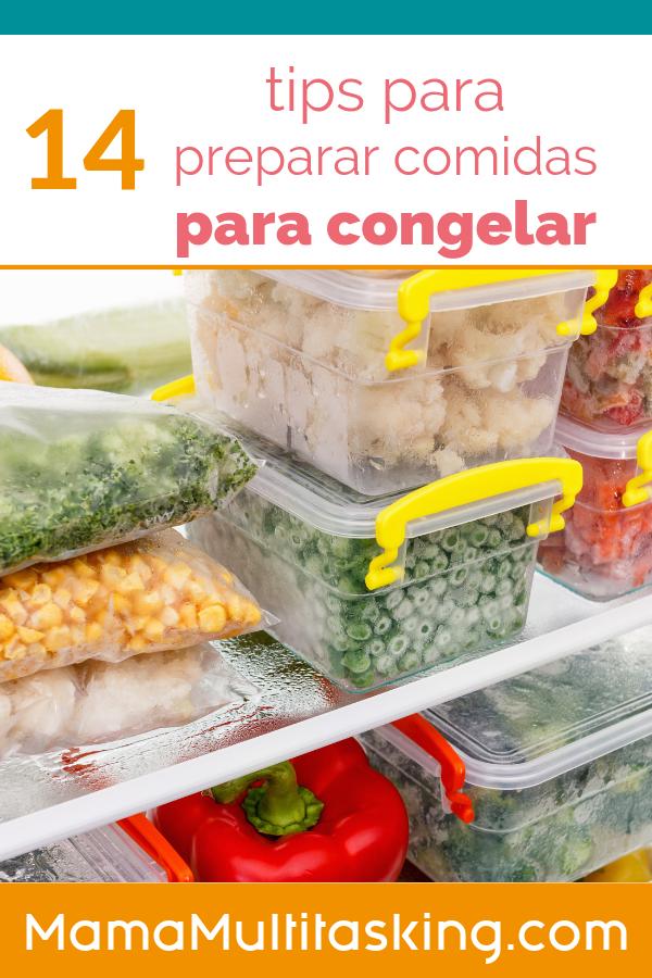 14 tips para preparar comidas para congelar (Freezer Meals)
