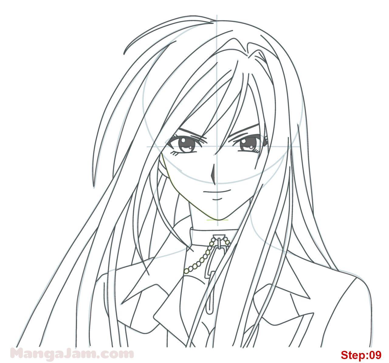 How To Draw Moka Akashiya From Rosario Vampire Mangajam Com Rosario Vampire Vampire Anime Shows Rosario Vampire Anime