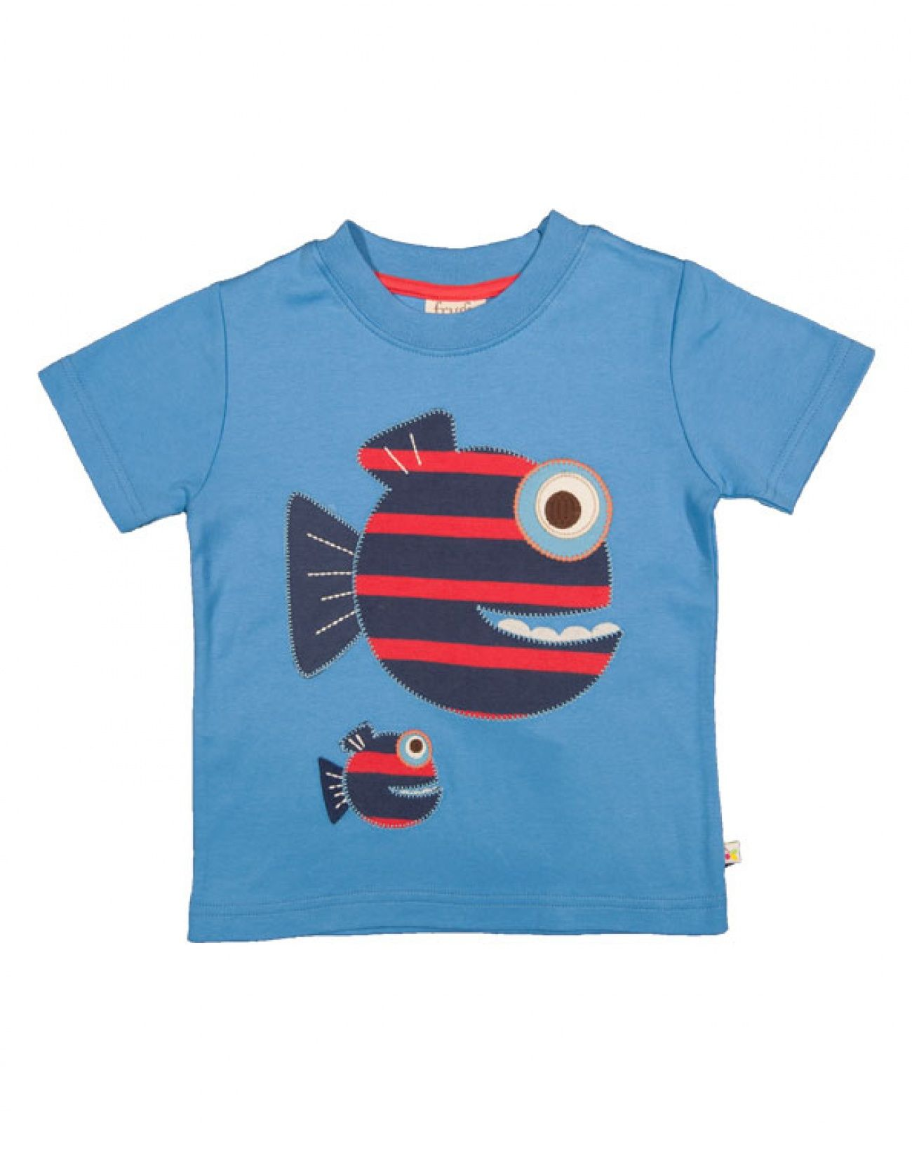 Frugi Stripy Fish Applique T-shirt | Boys | Pinterest ...