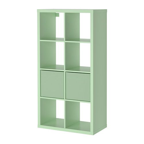 IKEA - KALLAX/DRÖNA, Shelving unit with 2 inserts, light ...