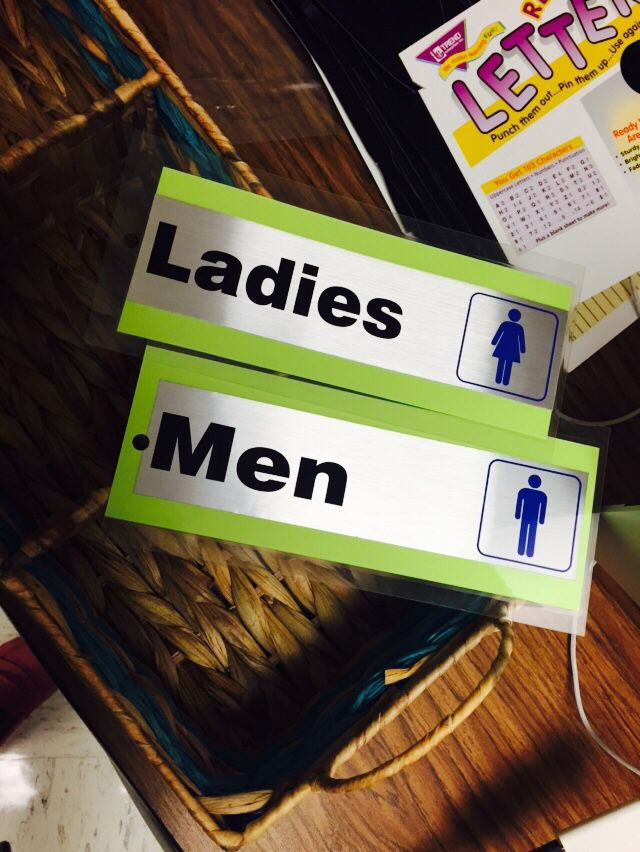 Bathroom Signs Lowes bathroom passes for my students using restroom signs from lowes