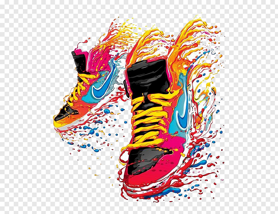 Pair Of Red Nike Shoes Painting T Shirt Nike Sneakers Watercolor Shoes Free Png Red Nike Shoes Shoes Illustration Red Nike